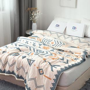 六层纯棉毛毯加厚毛巾被单双人空调被全棉透气毛巾毯宿舍夏季 被子