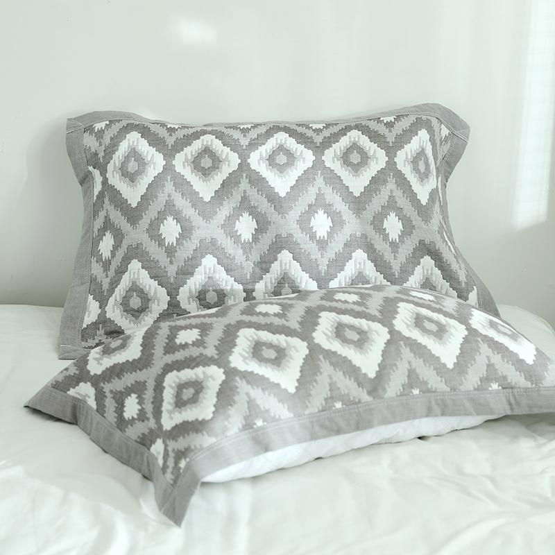 新款两条装日系纯棉4层纱布学生宿舍枕巾一对包邮全棉柔软舒适透