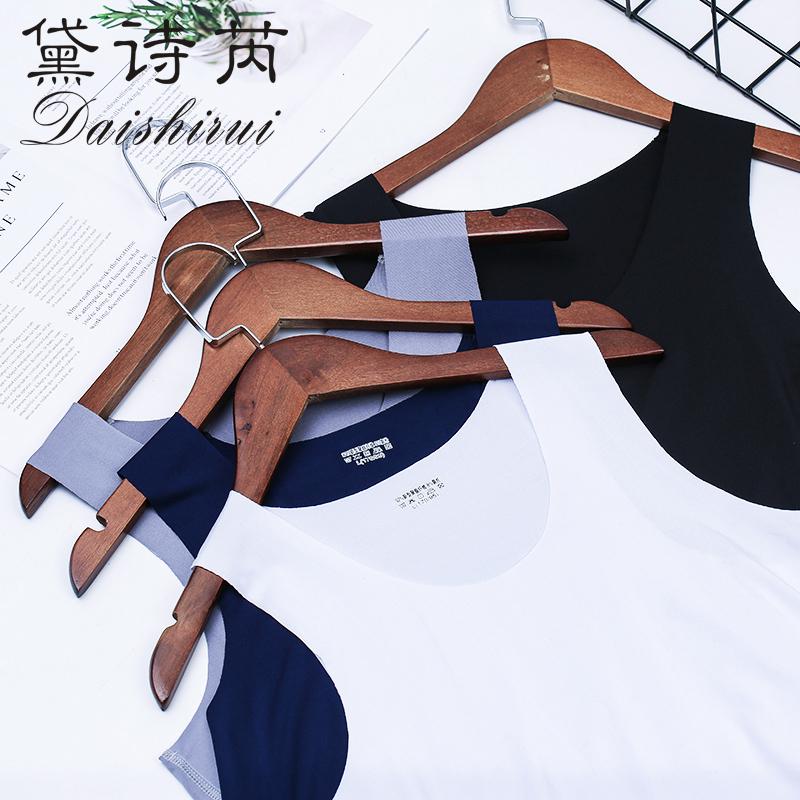 两件冰丝无痕男士背心男夏季修身型紧身青年运动无袖内衣打底汗衫