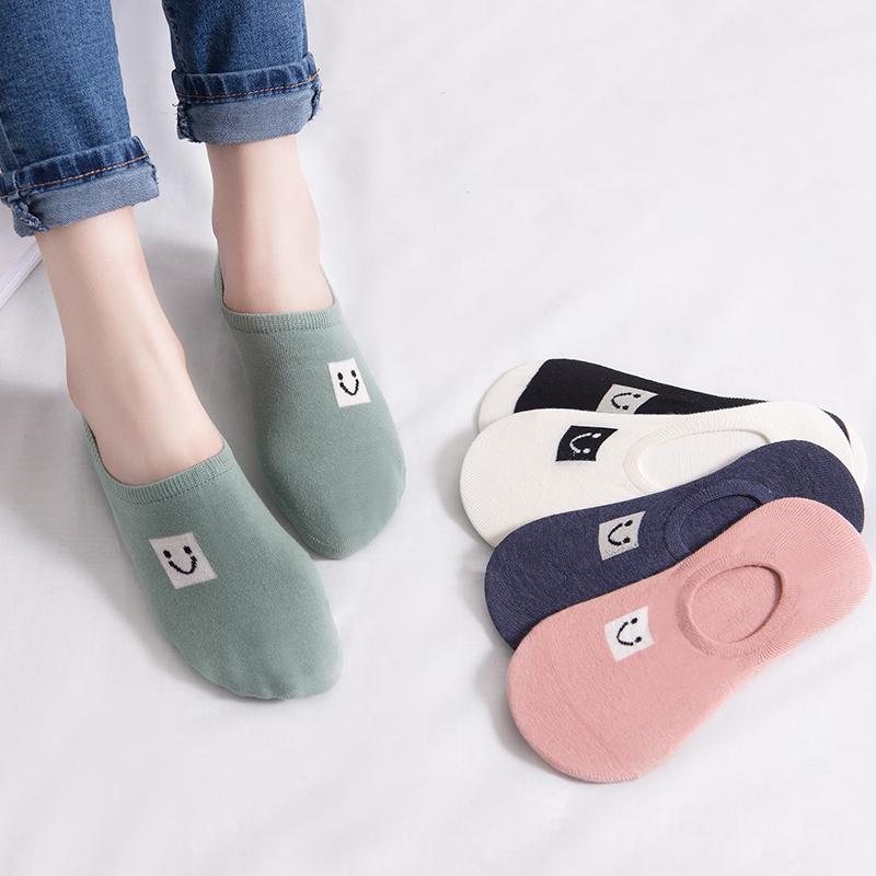 袜子女短袜浅口韩国可爱夏季纯棉船袜夏天薄款低帮硅胶防滑隐形袜