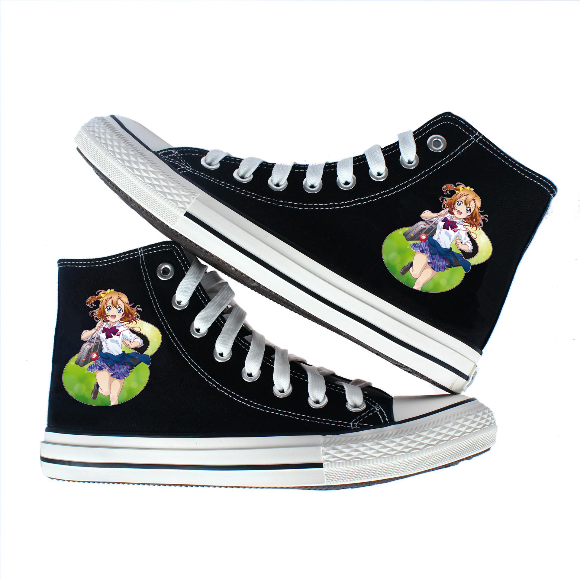 动漫LOVE LIVE 帆布鞋韩版休闲鞋青年板鞋时尚潮流布鞋学生运动鞋