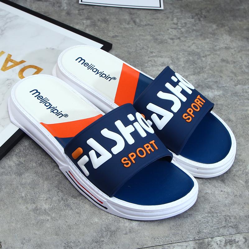 拖鞋男士潮室外夏季家用室内2021新款韩版个性特大码外穿凉拖鞋