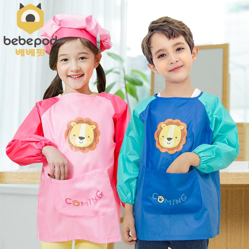 儿童画画衣免洗男女童男孩防水围裙质量好不好