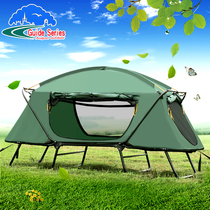 Outdoor thickened oxford cloth warm off the ground tent outdoor single double-decker anti-rainstorm double camping fishing account