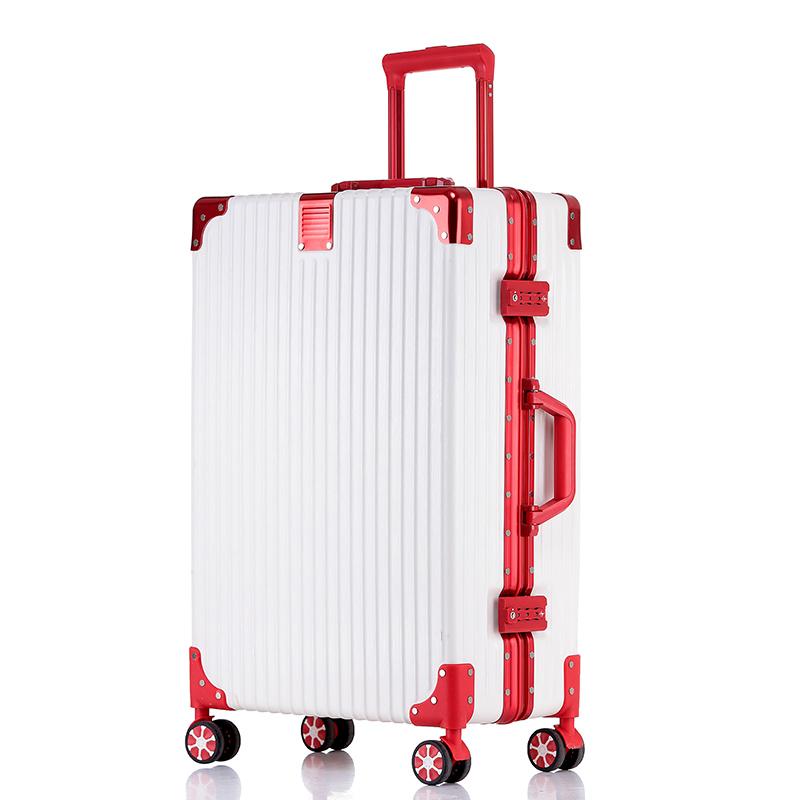 铝框拉杆箱万向轮20旅行箱男24网红行李箱女春夏款上千元有裂炉炸