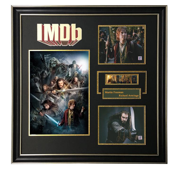 IMDB hobbit Martin Freeman Richard Armitage Autographed Photo Framed with certificate