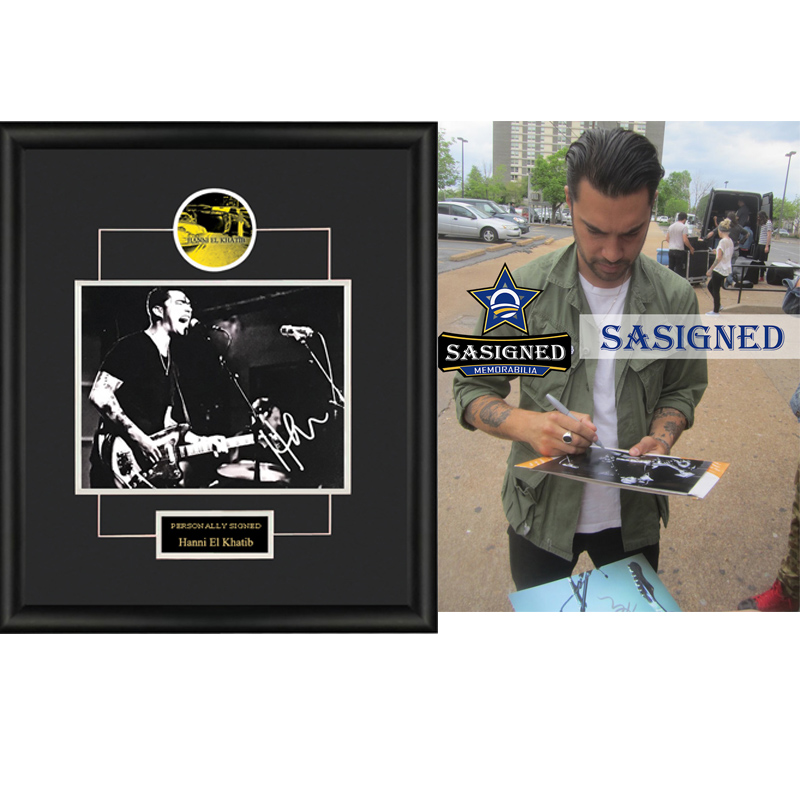 Collection of Hanni El Khatib rock singer autographed photos framed with SA certificate SA proof