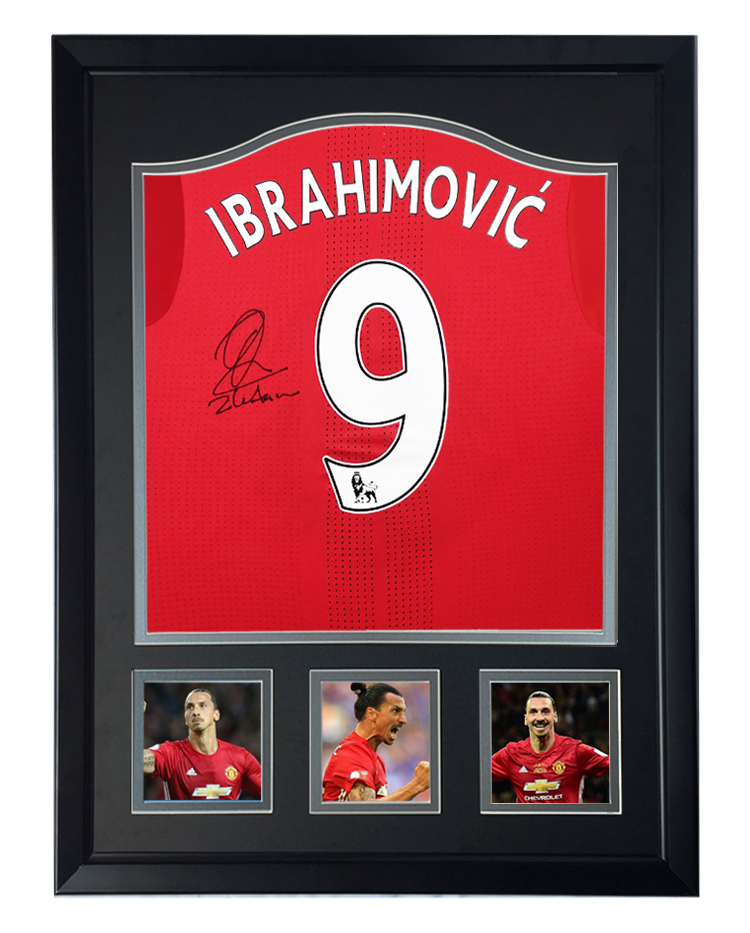 15-16 Manchester United Manchester United football team Zlatan Ibrahellomovic Ibu Autographed Football Jersey framed with certificate