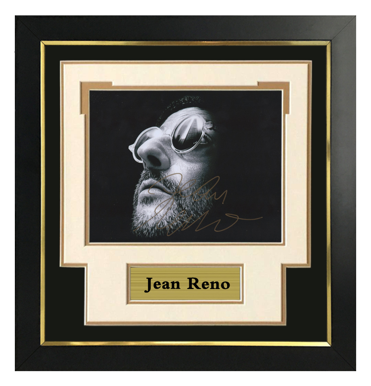 Let Renault autograph the photo, the killer is not too cold, the horizontal version of the fine framed frame contains SA certificate
