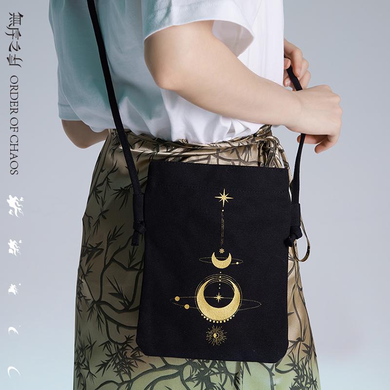 Unordered order original foreign style messenger bag Retro Black Star cross small canvas bag dark wind niche single shoulder bag