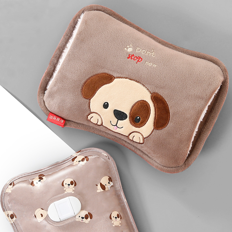 防爆熱水袋充電式暖水袋女熱敷肚子煖寶寶經期暖手寶毛絨簡單可愛