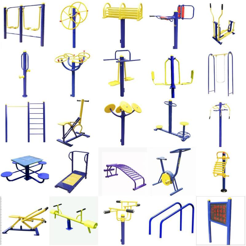 24 buried high and low fitness apparatus, single riding machine, old peoples Park Square, outdoor facilities, community fitness equipment