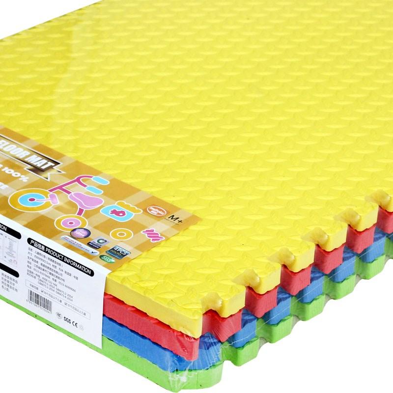 地垫树叶纹泡沫板大号加厚拼接垫卧室爬行垫6060每片送2边条