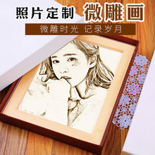 Girls give girlfriends and boyfriends special practical and delicate creative custom photo woodcut