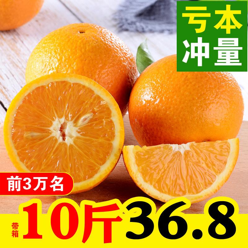 广西桂林夏橙10斤带箱包邮伦晚脐橙橙子新鲜水果非赣南脐橙冰糖橙