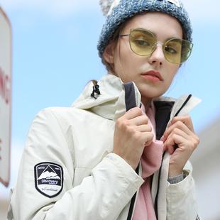 酷然户外冲锋衣女潮牌韩国秋冬三合一加绒加厚可拆卸外套登山服男