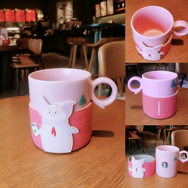 星巴克杯子2019猪年新款12oz小猪造型杯套马克杯女生喝水杯桌面杯券后205.00元