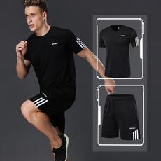 夏季跑步健身房运动套装