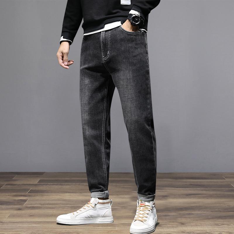 Hong Kong high end brand washed summer thin jeans mens loose mens Harem Pants fashion brand pants mens pants