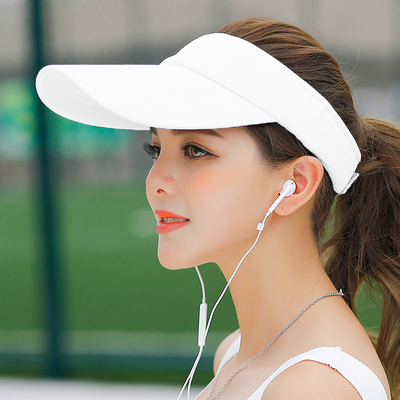 Cool Han sports hat womens summer sun visor running outdoor sunscreen tennis casual hat mens ultra light top baseball cap