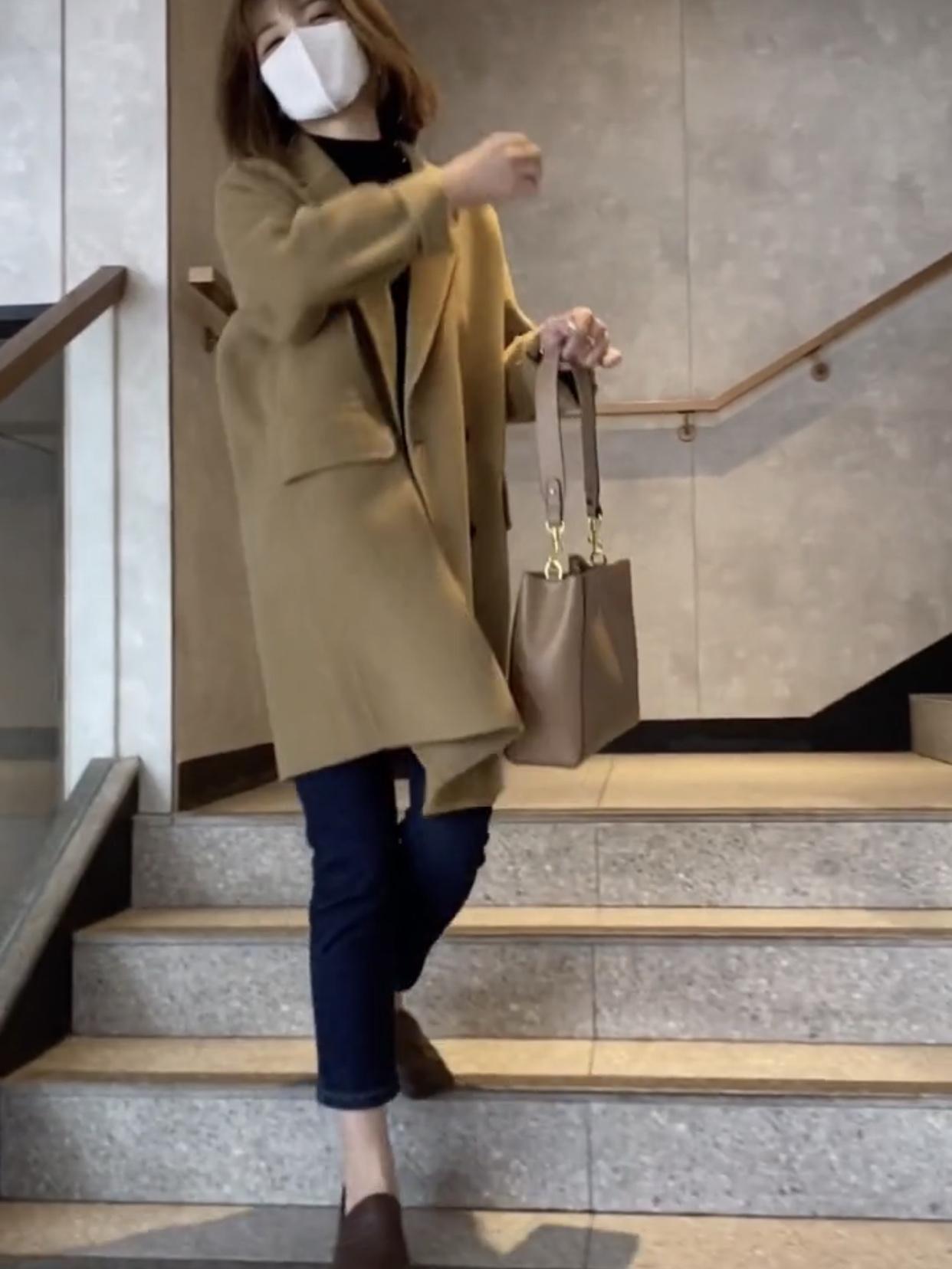 2020年秋冬新款双面羊绒大衣女中长款高端韩版茧型毛呢外套小个子