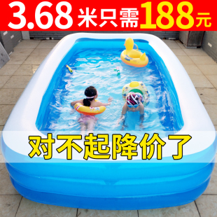 兒童游泳池超大型家庭充氣水池家用大人加厚嬰兒小孩寶寶洗澡桶