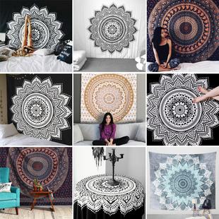 印度曼达拉 集合款挂布挂毯壁毯 抖音背景布瑜伽毯尺寸148*200cm