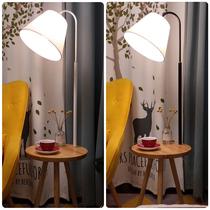 风客厅卧室宜家简约现代台灯ins麦木木北欧马卡龙网红落地灯创意