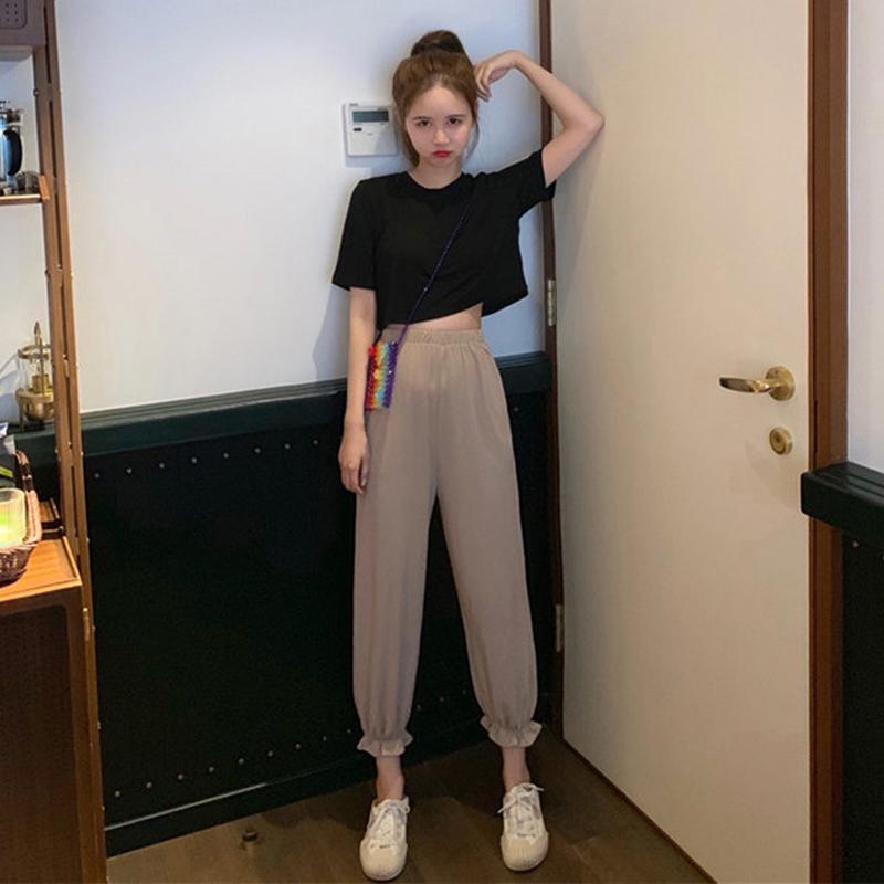 夏季泫雅风网红气质洋气轻熟风裤子满6元可用5元优惠券