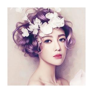韓式半永久掛畫眉眼唇裝飾畫紋繡美甲美睫牆壁宣傳海報美容院貼畫