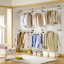 Qianhong clothes hanger lifting clothes hanger floor folding bedroom simple balcony retractable drying frame