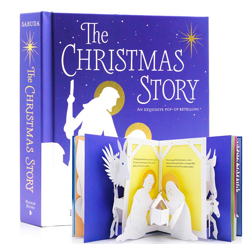 圣诞故事 精装立体翻翻书 The Christmas Story: An Exquisite Pop-up Retelling 英文原版绘本 3D立体礼物书 精装图画书