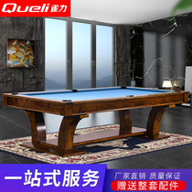Finch Power custom solid wood sculptor with standard adult billiard Table Villa Clubhouse multifunctional simple billiard table