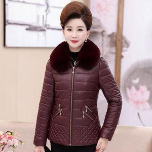 40-50中年女士媽媽裝冬裝棉服新款外套中老年女裝短款時尚棉衣