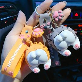 猫屁股钥匙扣男女生创意可爱卡通公仔玩偶ins汽车挂件情侣包挂饰图片