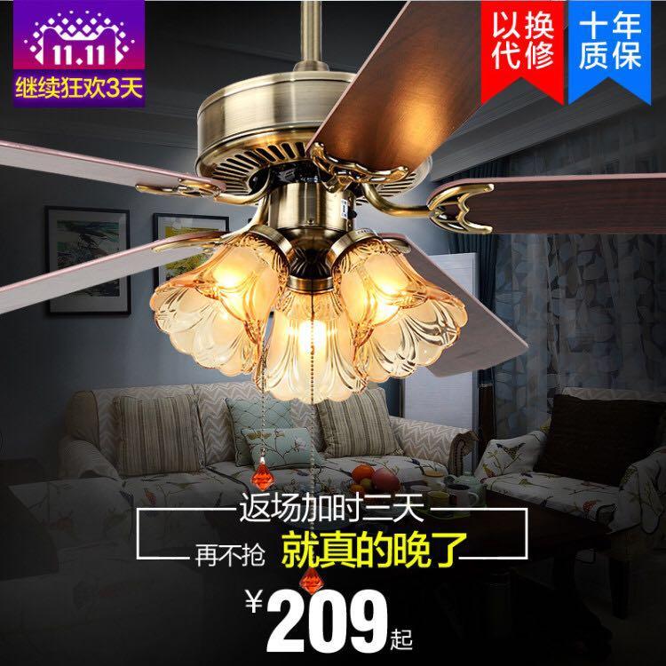 Вентилятор свет вешать вентилятор свет магазин гостиная домой континентальный ретро листья из электричество вентилятор свет американский ремень вентилятора люстра