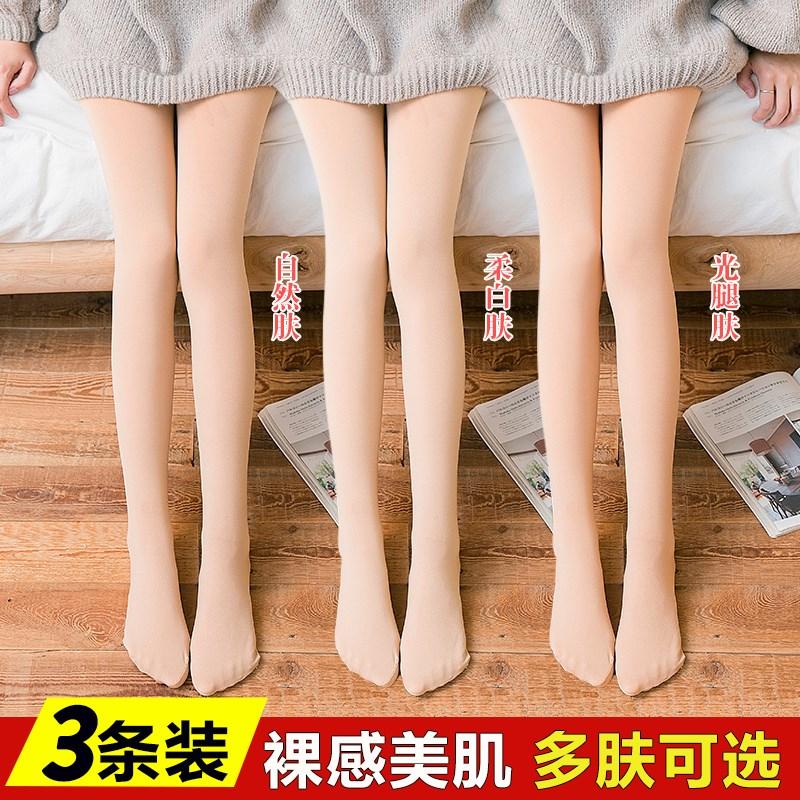 Váy mùa xuân mẫu nữ mùa xuân và mùa thu quần lót mỏng Phần nhân tạo vớ chống móc lụa mùa xuân và mùa thu quần bó chân - Vớ giảm béo