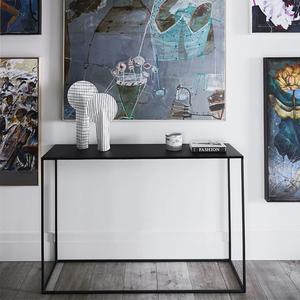 北欧简约铁艺玄关台置物架条几靠墙桌沙发后背柜窄边桌子隔断案台