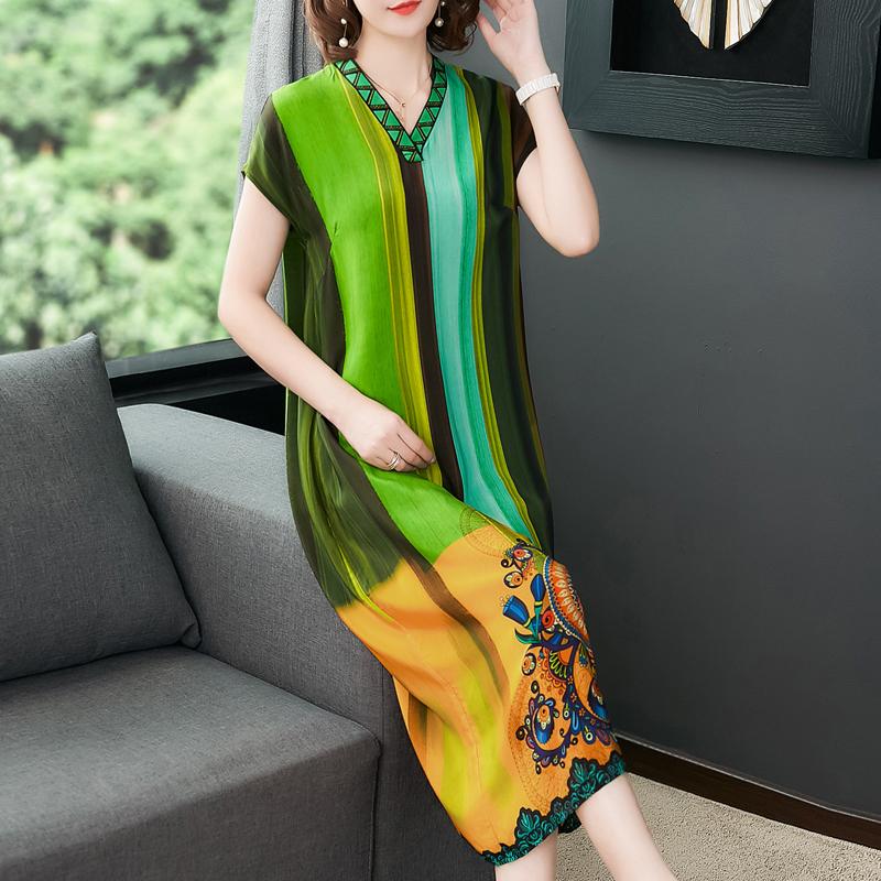 重磅真丝中长款高贵2019夏季连衣裙满128.00元可用60元优惠券