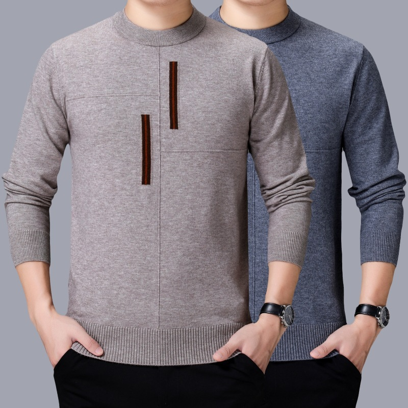 Autumn and winter 2020 New Style Mens cashmere sweater knitted pullover long sleeve fashion backing sweater trend