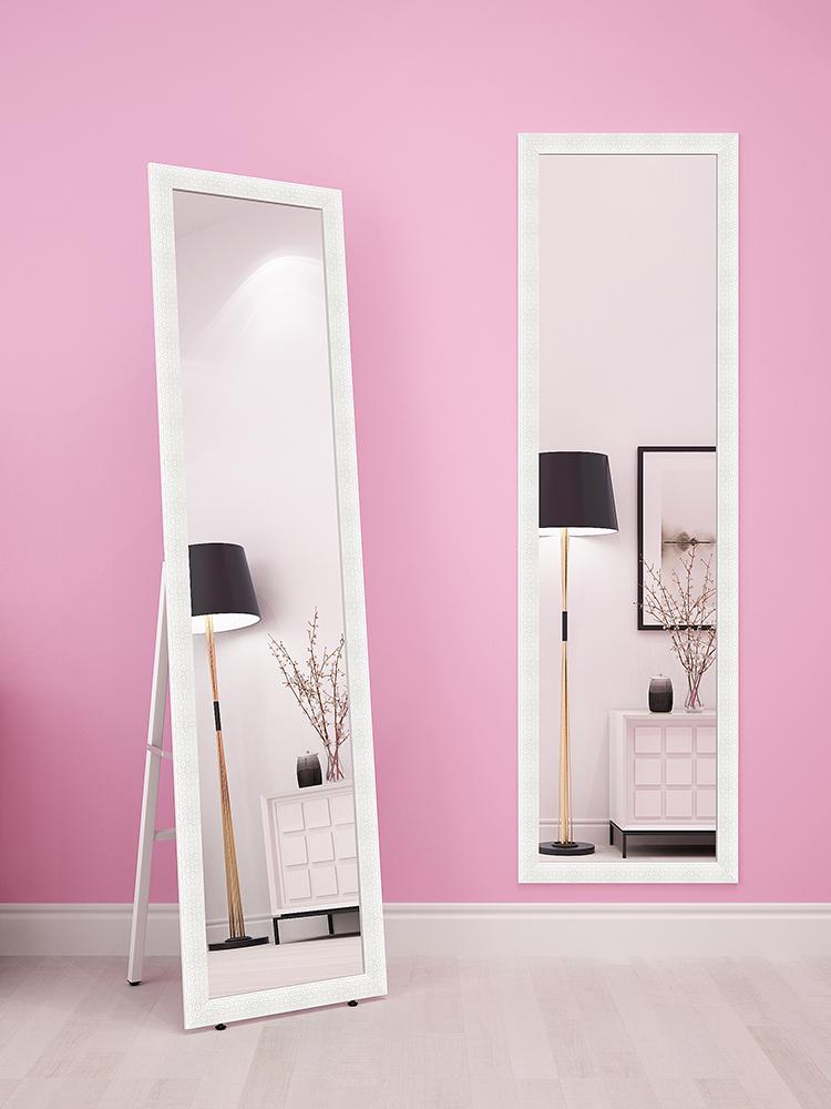热销0件有赠品冲钻穿衣镜卧室可移动立式欧式落地镜全身镜两用试衣镜长镜子上海