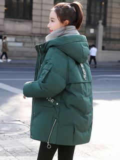 2019年冬季新款女装中长款ins羽绒面包服韩版棉袄外套棉衣棉服潮