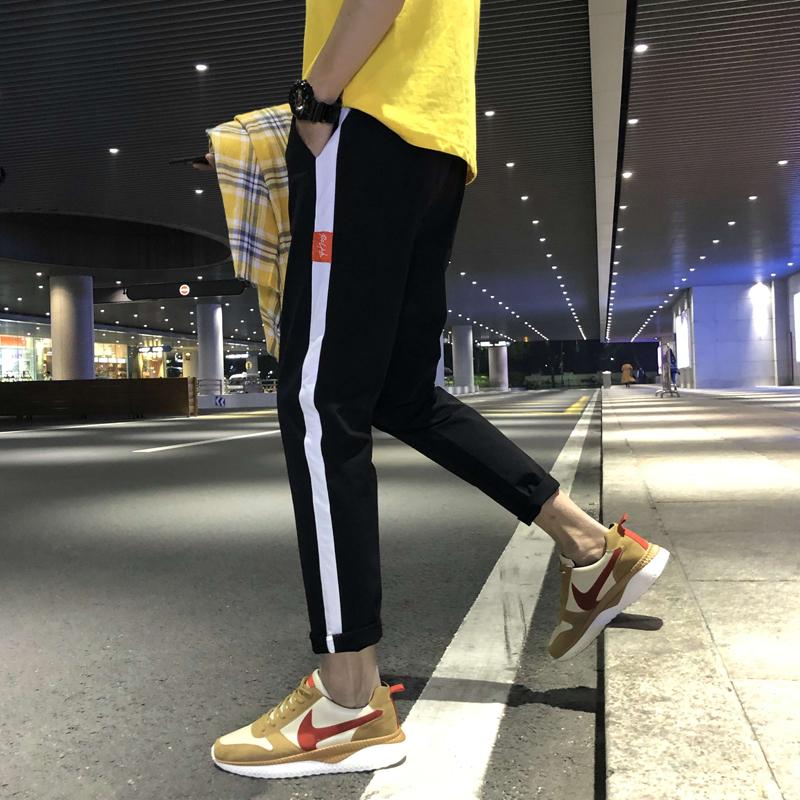九分裤男韩版潮修身小脚网红休闲裤(用48.2元券)