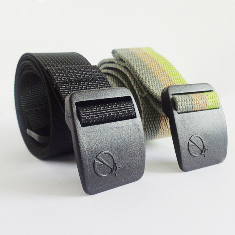 Sikaile belt mens canvas belt summer sports outdoor nylon lengthened knitting young students leisure belt