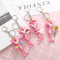 韩国可爱创意卡通粉红豹顽皮豹大号公仔钥匙扣圈时尚包包挂件