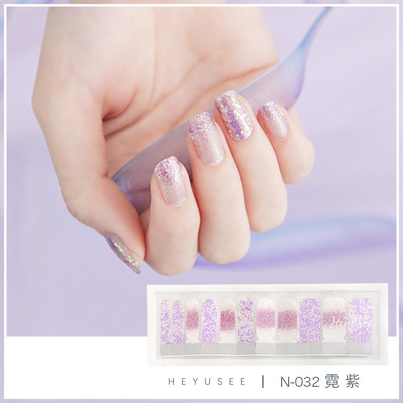 Heyusee manicure sticker, neon purple powder, bright white, pregnant nail nail nail nail polish nail polish.