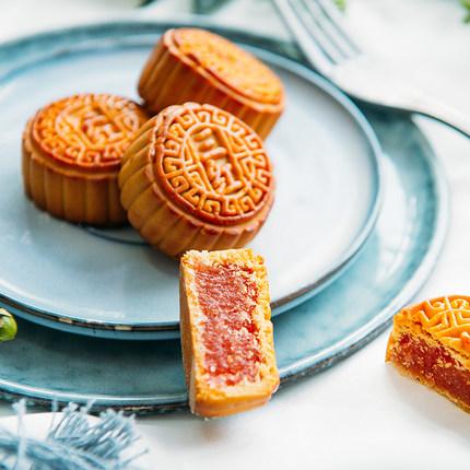 中秋节广式小月饼散装多口味传统手工水果味迷你组合装1斤2斤5斤