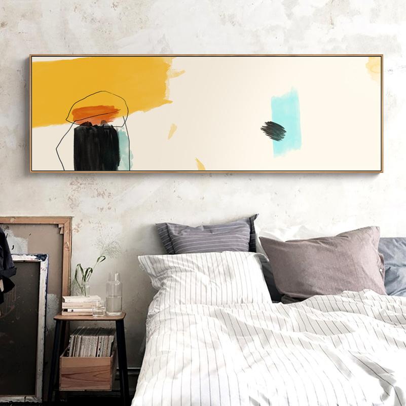 现代抽象简约卧室床头客厅装饰画