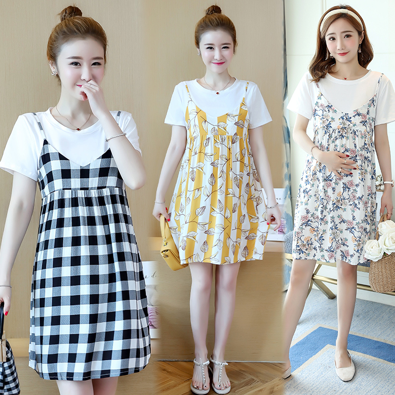 150cm small XS plus small maternity dress spring summer new fashion fashion pregnant dress