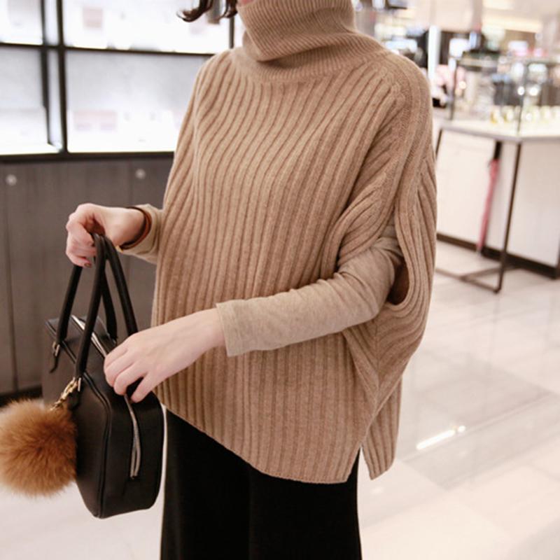 Autumn and winter new Korean wool knitted vest Pullover Batman short sleeveless high collar loose size